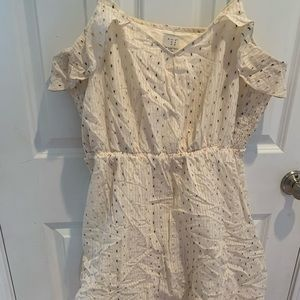 Ivory and gold sun dress